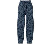 Hyper Reality Track Pants aus Jacquard-strick aus Einer Baumwollmischung