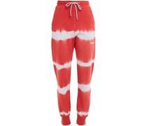 Track Pants aus Baumwollftee mit Batikmuster