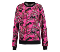 Printed cotton-blend jersey sweatshirt