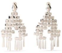 Silver-tone clip earrings