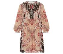 Lucia printed silk crepe de chine mini dress