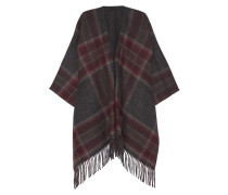 Saiome Checked Wool-blend Cape Anthrazit