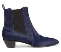 Lou Calf Hair Ankle Boots Navy