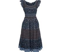 Odelia Ruffle-trimmed Floral-print Cotton-blend Midi Dress