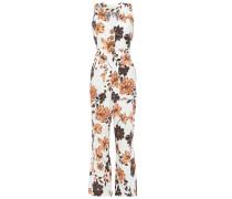 Floral-print Linen Wide-leg Jumpsuit