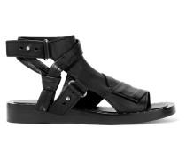 Nagano Stud-embellished Leather Sandals Schwarz
