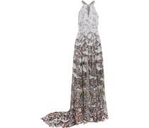 Printed Silk Gown Grau