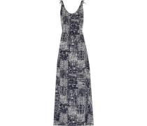 Phoenix tie-dyed crepe de chine maxi dress