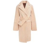 Mantel aus Shearling mit Gürtel