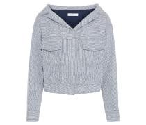 Cropped Metallic Bouclé-tweed Jacket