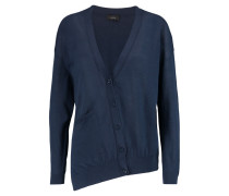 Asymmetric Cotton Cardigan Mitternachtsblau