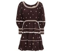 Adama Embellished Cotton-poplin Mini Dress
