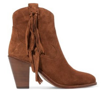 Isha tassel-trimmed suede ankle boots