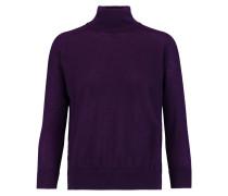 Cashmere Turtleneck Sweater Dunkellila