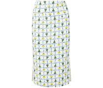 Cabana Printed Linen Skirt
