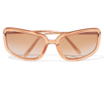 Round-frame Acetate Sunglasses Pastellorange