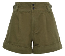 The Relaxed Army Cotton And Linen-blend Shorts