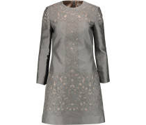 Luz Embroidered Silk-blend Mini Dress Grau