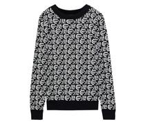 Pullover aus Jacquard-strick aus Einer Leinen-baumwollmischung