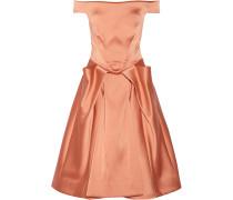 Off-the-shoulder Satin Dress Altrosa