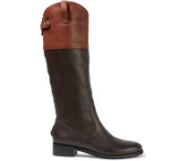 Barbra Two-tone Leather Boots Schokoladenbraun