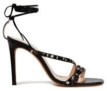 Leopard-print Calf Hair And Leather Sandals