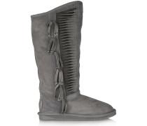Lakota Tassel-embellished Shearling Boots Anthrazit