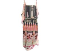 Athena Draped Printed Silk-chiffon Dress
