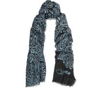 Kenley Intarsia-knit Cashmere Scarf Schwarz