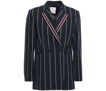 Ilian Pinstriped Cotton-blend Twill Blazer