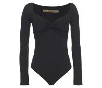 Twist-front Stretch-jersey Bodysuit