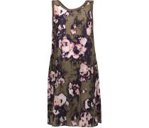 Ruffled Floral-print Voile Mini Dress Mehrfarbig