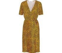 Floral-print Silk-jersey Wrap Dress