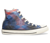 Metallic Embroidered Printed Canvas Sneakers Mehrfarbig