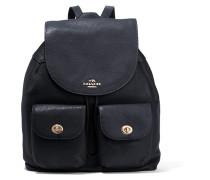 Billie Textured Leather Backpack Mitternachtsblau
