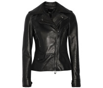 Carly Leather Biker Jacket Schwarz