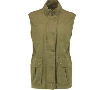The Leisure Cotton-twill Vest Armeegrün