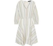 Asymmetric Striped Linen-blend Dress