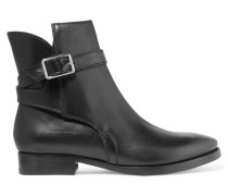 Bois Leather Ankle Boots Schwarz