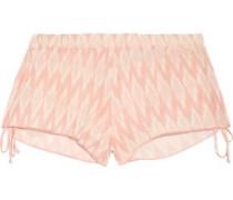 Morgan printed voile shorts