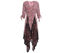 Asymmetric Printed Silk Crepe De Chine Dress
