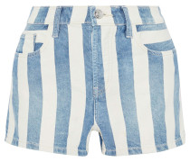 The Westside Striped Denim Shorts