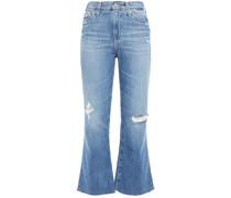 Halbhohe Kick-flare-jeans in Distressed-optik