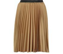 Pleated Faille Skirt Gold