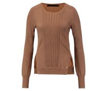 Macy Silk And Cotton-blend Sweater Braun