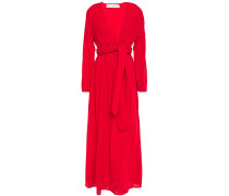 Belted Cotton-gauze Maxi Dress