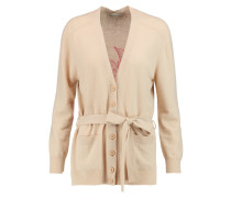 Intarsia Wool And Cashmere-blend Cardigan Beige