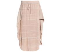 Ruffled open-knit midi skirt