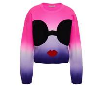 Appliquéd Dégradé Wool-blend Sweater