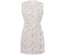 Embroidered Bouclé-tweed Mini Dress